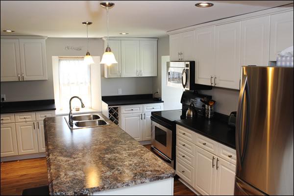 Kitchen in a Belleville Ontario Stone home