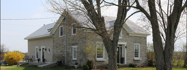 eastern ontario stone home for sale near addison