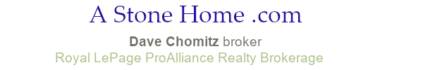 stone homes for sale in Ontario dave chomitz