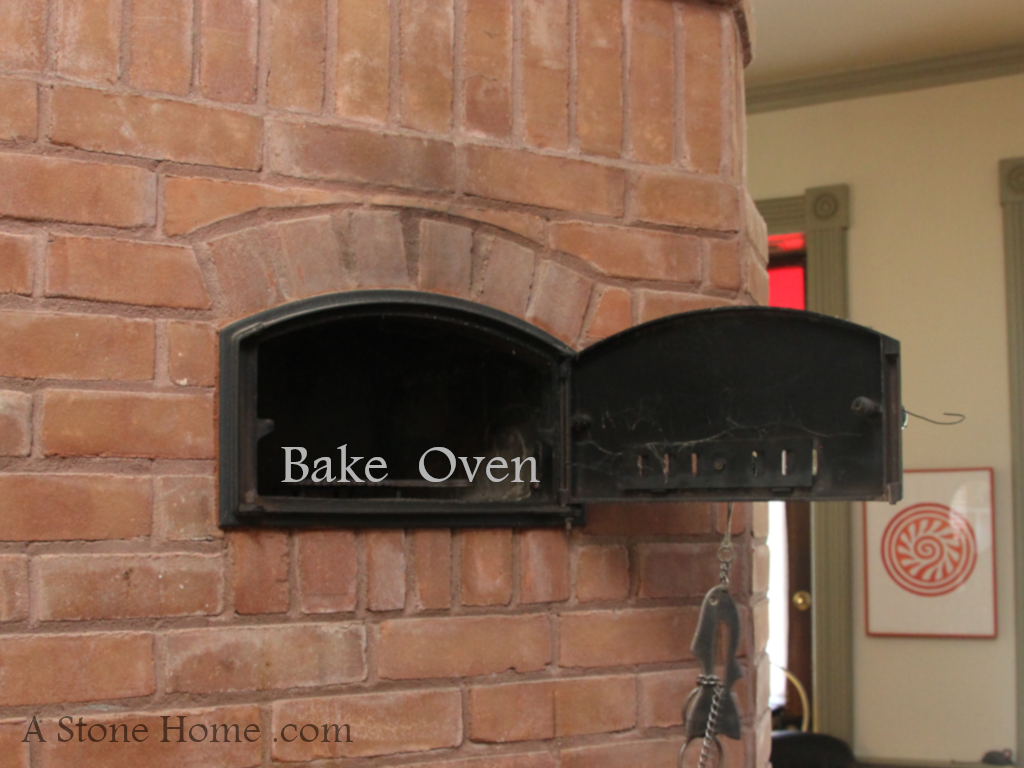 bake oven in ontario stone home for sale