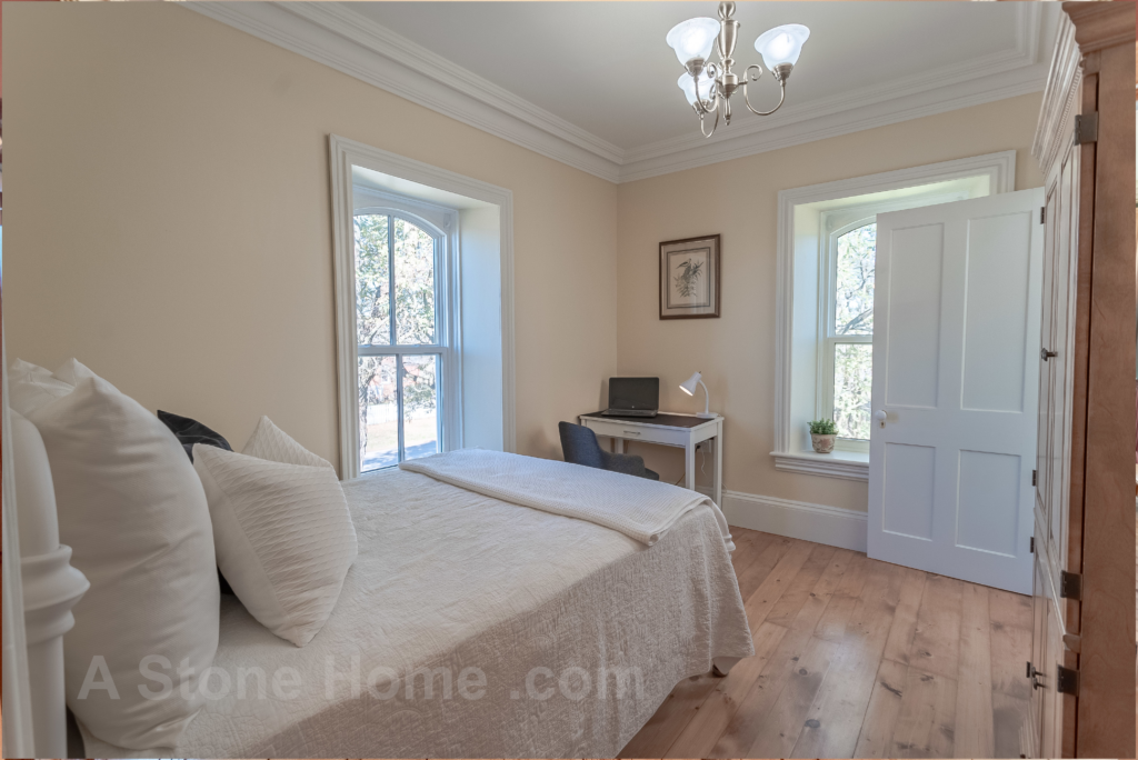 Merrikville Ontario stone home for sale Dave Chomitz bedroom
