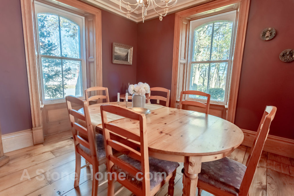 Merrikville Ontario stone home for sale Dave Chomitz dining room 2