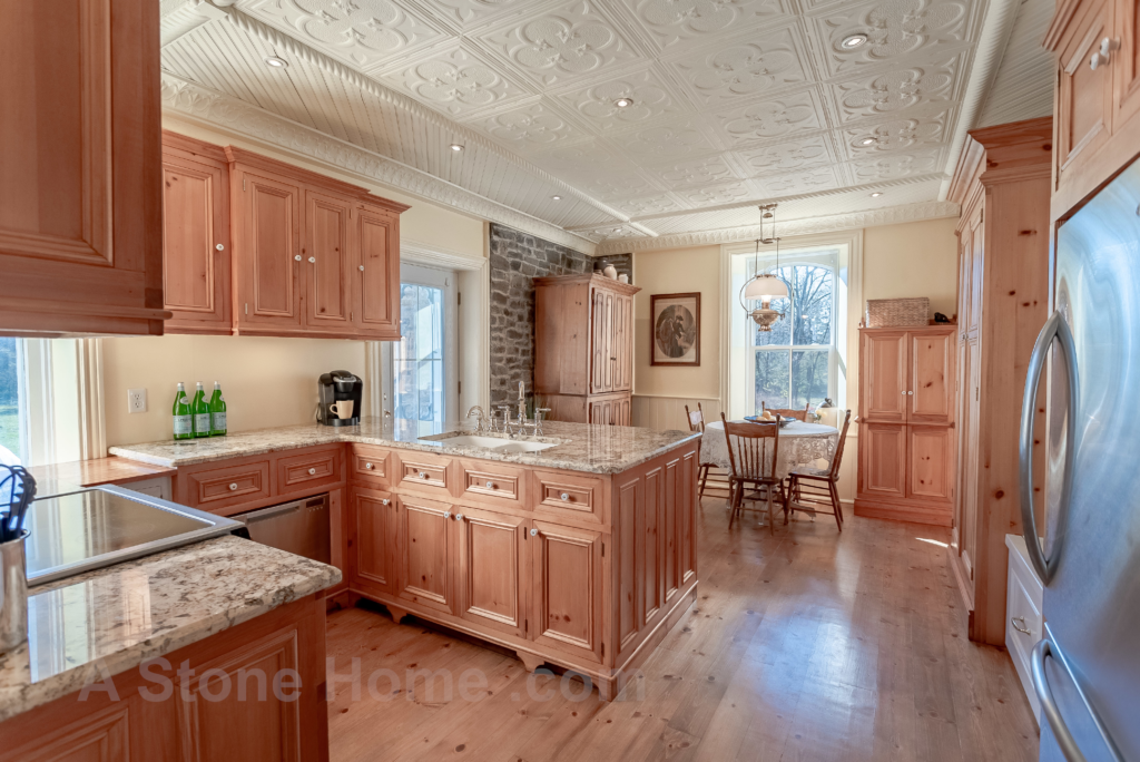 Merrikville Ontario stone home for sale Dave Chomitz wood floors