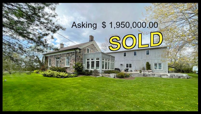 ontario stone home sold dave chomitz 3820 concession 6 clarington